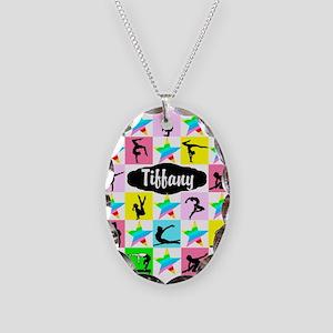 FIERCE GYMNAST Necklace Oval Charm
