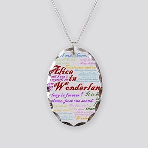Alice in Wonderland Quotes Necklace