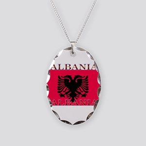 Albania Necklace Oval Charm