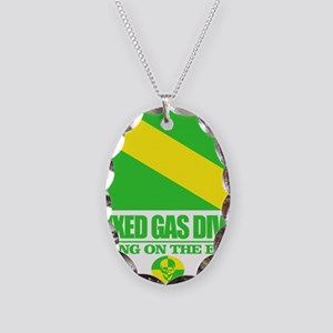 Mixed Gas Diver Necklace Oval Charm