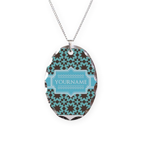 Turquoise and Brown Pattern Personalized