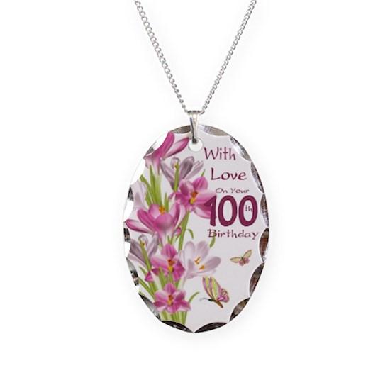 100th Birthday Celebration Jewellery With Pink Cro