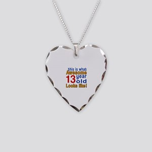 This Is What Awesome 13 Year Necklace Heart Charm