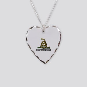 Dont Tread on Me Necklace Heart Charm