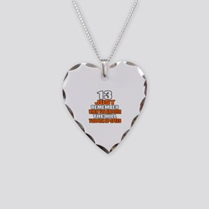 13 Just Remember Birthday Des Necklace Heart Charm