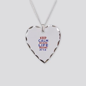 Life Begins At 13 Necklace Heart Charm