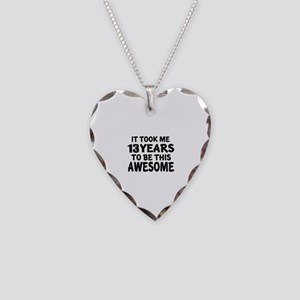 13 Years To Be This Awesome Necklace Heart Charm