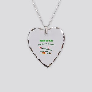 Buddy's Food Groups Necklace Heart Charm