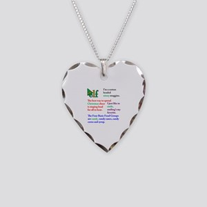 Elf Quotes Necklace Heart Charm
