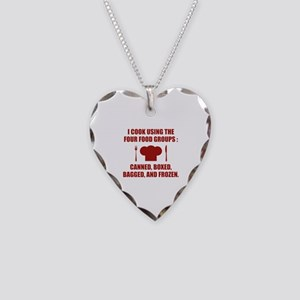 Four Food Groups Necklace Heart Charm