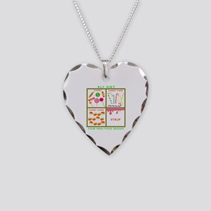 Elf Food Groups Necklace Heart Charm