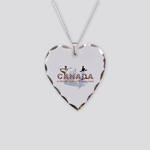 Canada Winter Sports Necklace Heart Charm