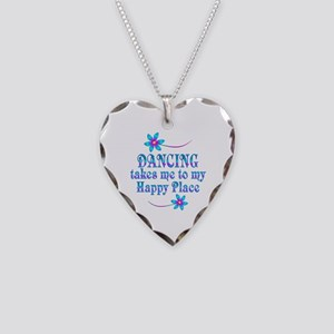 Dancing My Happy Place Necklace Heart Charm