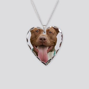 Pit Bull 14 Necklace Heart Charm