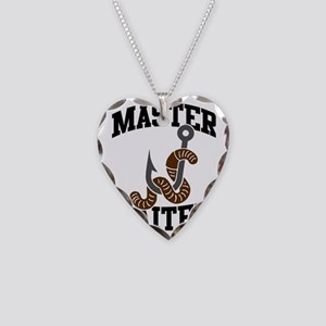 Master Baiter Necklace Heart Charm
