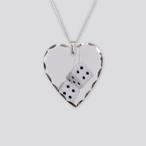 FuzzyDice091209 Necklace Heart Charm