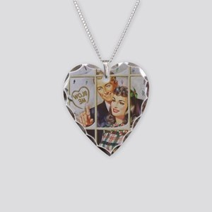 pin up Necklace Heart Charm