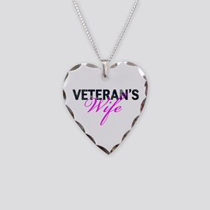 Navy Vet's Wife Necklace Heart Charm