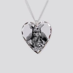 Aegir Viking Brewmaster Necklace Heart Charm