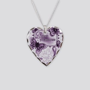 Lupus Awareness Necklace Heart Charm