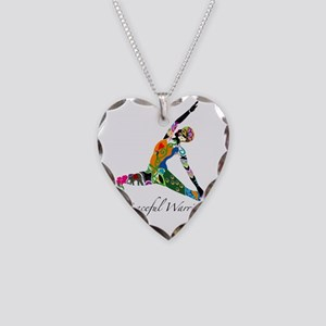 PeacefulWarriorT Necklace Heart Charm