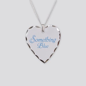 Something Blue Necklace Heart Charm
