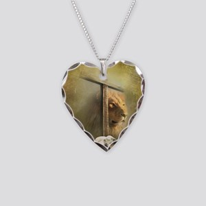Lion of Judah, Lamb of God Necklace Heart Charm