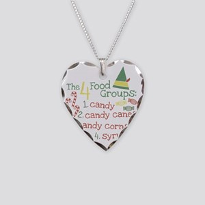 The 4 Food Groups Necklace Heart Charm