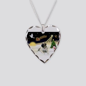 Night Flight - BullMastiff 4.png Necklace Heart Ch