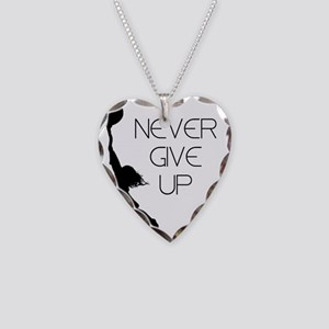 Never Give up Necklace Heart Charm