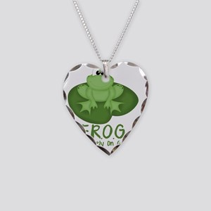 F.R.O.G. Necklace Heart Charm
