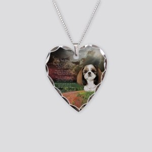 """Why God Made Dogs"" Shih Tzu Necklace Heart Charm"