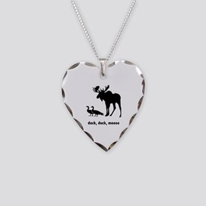 Duck Duck Moose Necklace Heart Charm