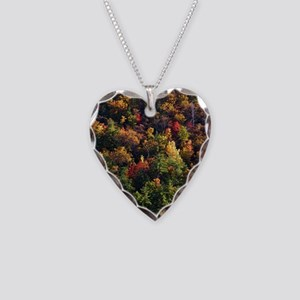 A Slice of Fall Necklace Heart Charm