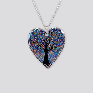 Colorful Tree of Life Art Print Necklace