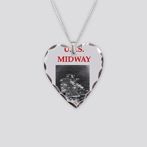 u.s.s.midway Necklace Heart Charm