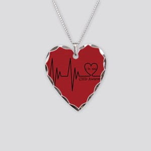 1 in 100 Necklace Heart Charm