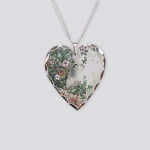 Flowers Painting Necklace