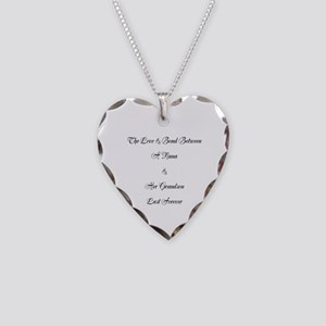 Nana/grandson Necklace Heart Charm