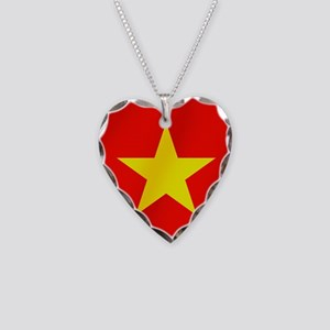 Flag of Vietnam Necklace Heart Charm