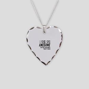 Critical Care Nurse Heart Charm Necklaces - CafePress