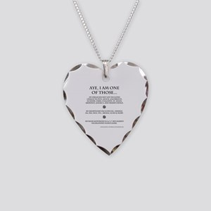 Call Me Sassanach Necklace Heart Charm