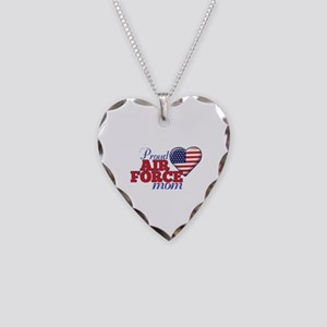 Proud Air Force Mom - Necklace Heart Charm