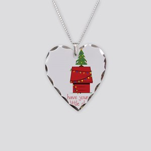 Merry Little Christmas Necklace Heart Charm