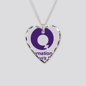 International Womens Day Necklace Heart Charm