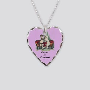 Love is Eternal Necklace Heart Charm