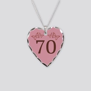 70th Birthday Anniversary Necklace Heart Charm