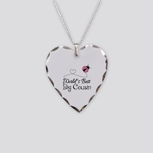 World's Best Big Cousin Necklace Heart Charm