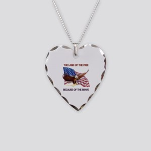 Land of the Free... Necklace Heart Charm