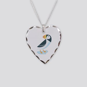 Puffin Necklace Heart Charm